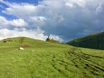 Kloster i bergen Arkivbilder