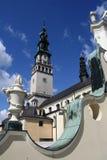 Kloster i Czestochowa Arkivbild
