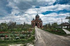 Kloster i den Orel regionen Arkivfoton