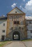 Kloster i den Vyssi Brod staden Fotografering för Bildbyråer