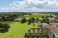 Kloster i Lasauve Gironde Royaltyfri Fotografi