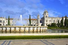 Kloster i Lissabon, Portugal Royaltyfri Bild