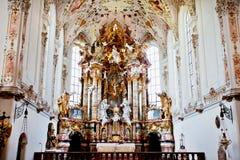 Kloster i Rottenbuch, Tyskland royaltyfri bild