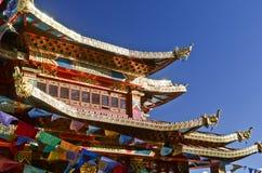 Kloster i Shangrila, Yunnan, Kina royaltyfri fotografi