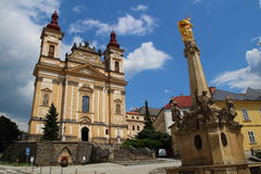 Kloster i Sternberk, Tjeckien Royaltyfria Bilder