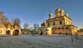 Kloster i Veliky Novgorod, Ryssland Arkivfoto