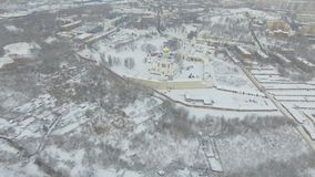 Kloster im Winter stock video footage