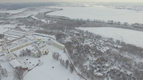Kloster im Winter stock footage