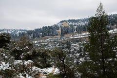 Kloster Jerusalems Moskovia im Schnee Lizenzfreie Stockfotos