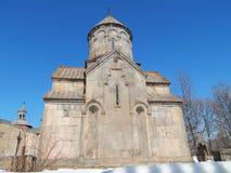 Kloster Kecharis (11-13 århundraden) i Tsahkadzor i Armenien Arkivbild