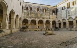 Kloster kloster, galatina för St. Catherine Arkivbilder