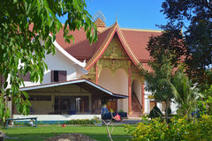 Kloster in Laos stockfoto