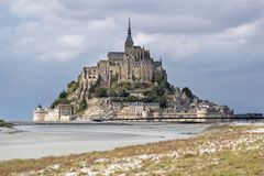Kloster Le Mont Saint-Michel Stockfotos