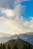 Kloster in Leh Ladakh Licht und Schatten vom Sonnenlicht Lizenzfreies Stockbild
