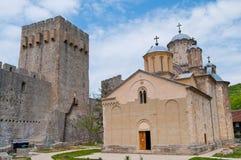 Kloster Manasija stockbilder
