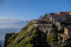 Kloster Meteora Grekland Fotografering för Bildbyråer