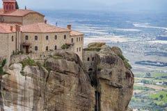 Kloster Meteora, Grekland Arkivbild