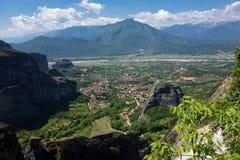 Kloster Meteora Roussanou, Griechenland Lizenzfreie Stockfotos
