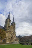 Kloster Michelsberg (Michaelsberg) in Bamburg, Germania con il blu Fotografia Stock Libera da Diritti