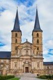 Kloster Michelsberg (Michaelsberg) i Bamburg, Tyskland Royaltyfria Bilder