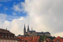 Kloster Michelsberg (Michaelsberg) i Bamburg, Tyskland Royaltyfri Fotografi