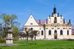 Kloster Mnichovo Hradiste, Tjeckien, Europa Fotografering för Bildbyråer