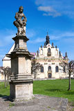 Kloster Mnichovo Hradiste, Tjeckien, Europa Royaltyfria Bilder