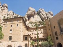 kloster montserrat Royaltyfri Bild