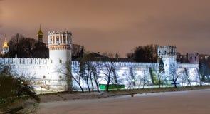 kloster moscow novodevichiy russia Ryssland Fotografering för Bildbyråer