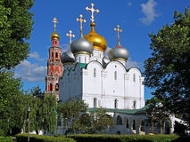 kloster moscow novodevichy russia Royaltyfri Foto