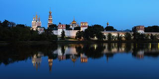 kloster moscow novodevichy russia Royaltyfria Bilder