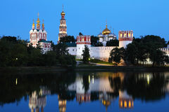 kloster moscow novodevichy russia Arkivfoton