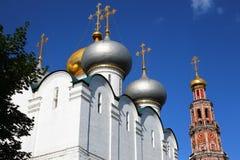kloster moscow novodevichy russia Arkivbilder