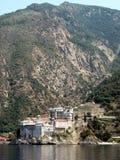 Kloster Mt-Athos Stockbild