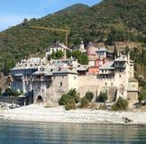 Kloster an Mt Athos Stockbild