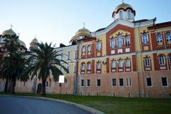 Kloster norr Kaukasus Abchazien arkivbild