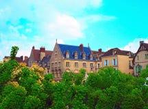 Kloster Notre Dame Street in Chartres in Eure- und Loir-Abteilung von Loire Valley, Frankreich entspringen Sie in ein Chartre, Gr Stockbild