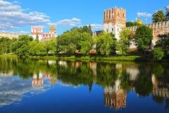 kloster novodevichy moscow Royaltyfria Foton