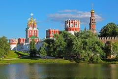 kloster novodevichy moscow Arkivbild