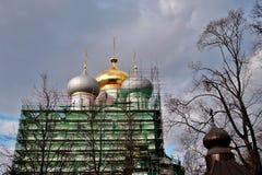 kloster novodevichy moscow Smolensk symbolsdomkyrka royaltyfria bilder