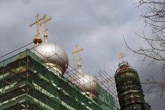 kloster novodevichy moscow Smolensk symbolsdomkyrka royaltyfri fotografi