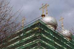kloster novodevichy moscow Smolensk symbolsdomkyrka arkivfoto