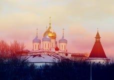kloster novospassky moscow Royaltyfria Bilder