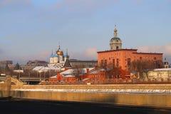 kloster novospassky moscow Arkivbilder