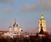 kloster novospassky moscow Royaltyfri Foto