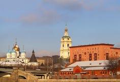 kloster novospassky moscow Arkivbild