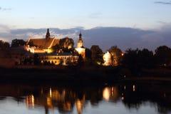 Kloster och church- Salwator, Krakow, Polen Arkivbilder