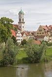 Kloster- och kyrkakomplexSt Mang i Regensburg Arkivbilder