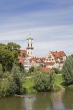 Kloster- och kyrkakomplexSt Mang i Regensburg Arkivfoto