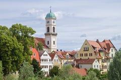 Kloster- och kyrkakomplexSt Mang i Regensburg Arkivfoton